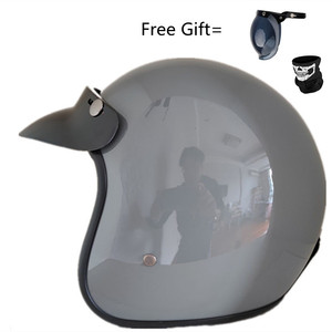 Image 1 - Moda marka VOSS vintage motosiklet kaskları mat siyah kaptan amerika gözlük Retro Vintage stil nokta