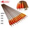 Linkboy карбоновые стрелы для стрельбы из лука ID 6,2 мм Spine400 600 5 составные Рекурсивные традиционные луковые стрелы 12 шт.