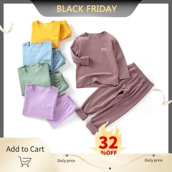 HIPAC 2pcs Boys Girls Pajamas Set Casual Sleepwear for Toddler Kids Children Underwear Pyjamas Boy Girl Clothing Nightwear - sale item Children's Clothing