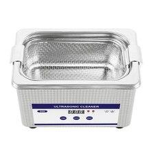 0.8L acier inoxydable numérique Ultra sonique nettoyant Ultra sonique bain chauffage minuterie nettoyant bijoux verre montre outil de nettoyage