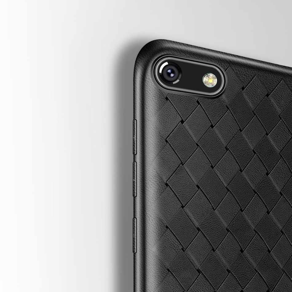 Huawei Y5 2018 kılıf dokuma ızgarası silikon kılıf için Huawei Y5 başbakan 2018 yumuşak TPU arka kapak için Huawei Y5 Lite 2018 DRA-LX5