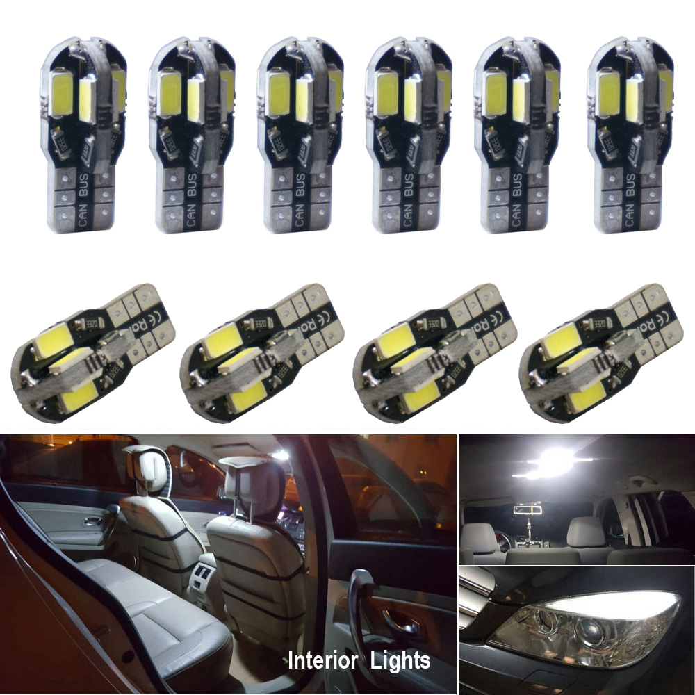 LED T10 W5W Canbus Bulbs Car Interior Lights For <font><b>Toyota</b></font> <font><b>RAV4</b></font> Auris Yaris Avensis t25 Prius Hilux Tundra Verso Camry Corolla image