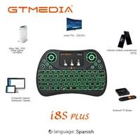 GTMEDIA-miniteclado inalámbrico con retroiluminación I8S Plus i8, 2,4 GHz, Air Mouse, Touchpad, controlador para Android TV BOX, teléfono inteligente