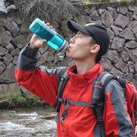 770ml בקבוק מי חיצוני ספורט Leakproof מים מסנן בקבוק לקמפינג טיולים תרמילאים נסיעות מים מסנן miniwell-בבטיחות והישרדות מתוך ספורט ובידור באתר