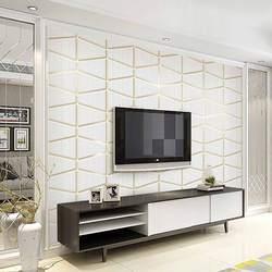 Современный минималистичный стиль, геометрия Графика замши нетканые обои Спальня рельеф Bump фон телевидения в гостиную W