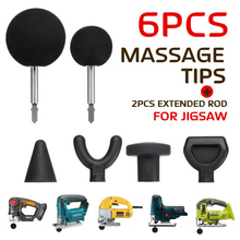 6PCS/Set Muscle Relaxation Massage Jigsaw Electric Massagers Adapter Pe
