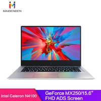 MaiBenBen XiaoMai 6A for Office Laptop N4100+MX250 2G Graphics Card/8G RAM/ 128G SSD+1TB HHD/DOS/Silver 15.6