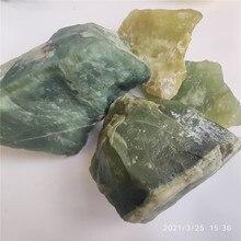 Chunk Natural Green Xiuyan Jade Rough Stone One of China's Four Famous Jade Carving Material, Fish Tank Aquarium Decoration
