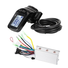 цена на 36V 48V 350W Electric Bicycle Motor Brushless Controller LCD Display Panel Thumb Throttle Scooter Brushless Controller Kit(36V)