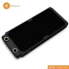 EKWB EK-CoolStream Classic SE 240mm Copper Black Thin Radiator 273 x 120 x 27mm (L x W x H) G1/4 ,Water Cooling heat dissipation