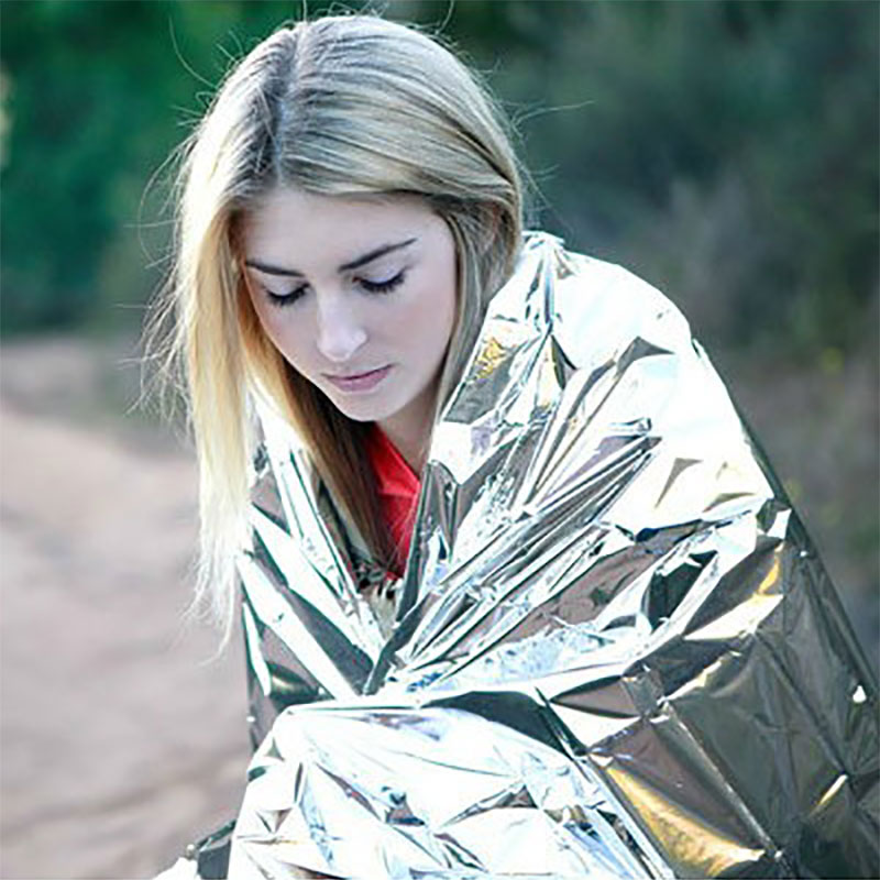 Emergent Blanket Outdoor Survive Thermal Mylar Lifesave Hypothermia Rescue Emergent Keep Foil Blanket First Aid Kit Camp Warm