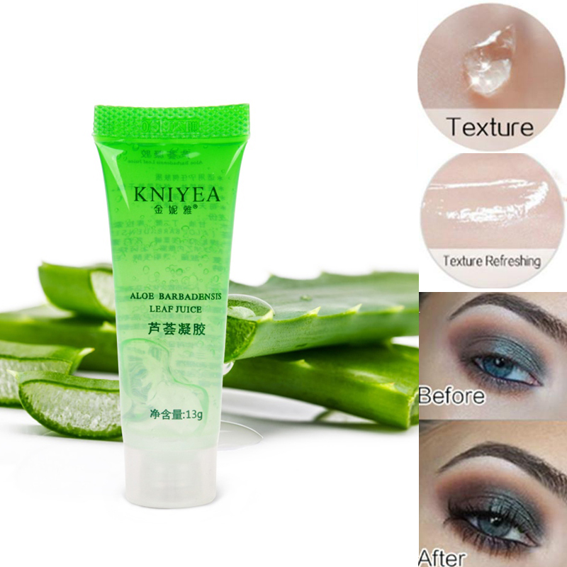 Pro Moisturizing Natural Primer Makeup Transparent Gel Aloe 100% Pure Plants Base Primer Foundation Eyeshadow Skin Damage Repair