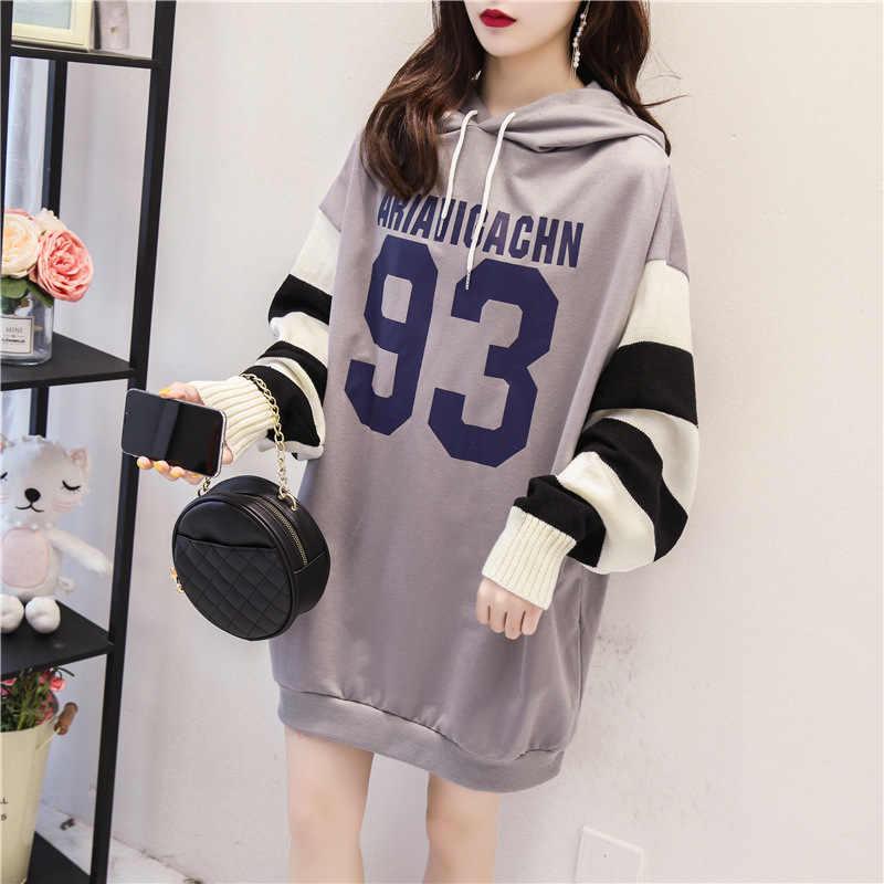 Sweater Long-sleeved Pullovers Hoodies Women Riverdale Exo Bts Oversized Hoodie Aesthetic Kawaii Splicing Sweater Sleeves Coat