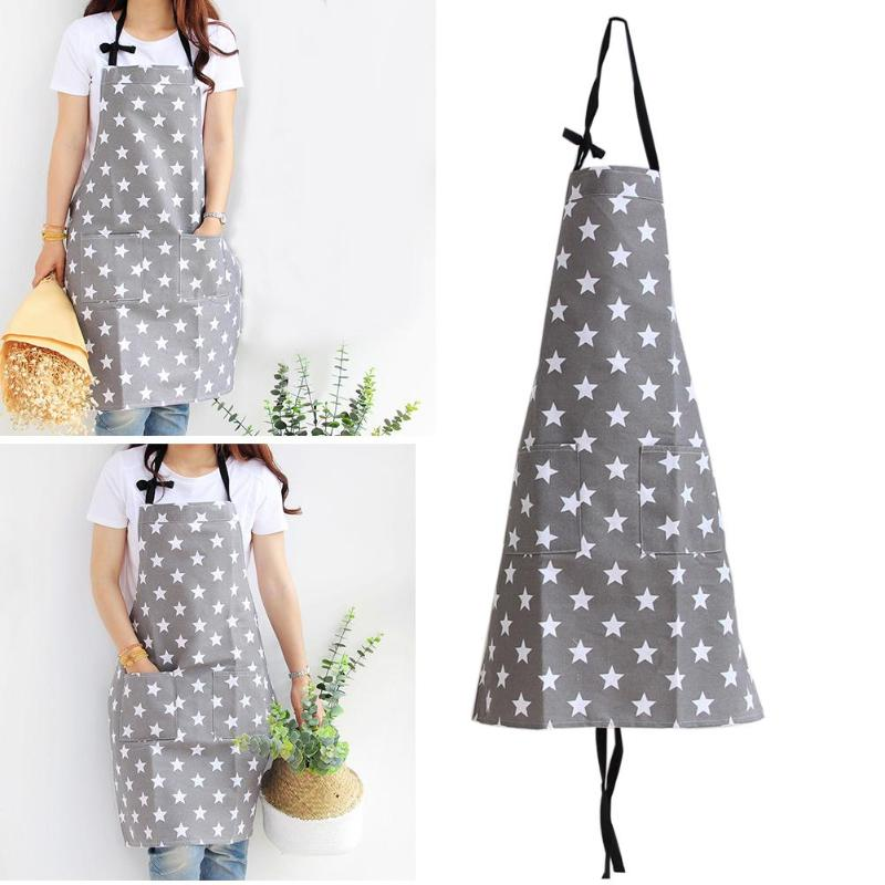 Simple Unisex Apron Kitchen Sleeveless Apron Waterproof Cotton Star Painting Home Kitchen Accessories for Cooking Kitchen 1