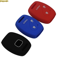 Jingyuqin 50 قطع 3 أزرار غطاء مفتاح سيارة سيليكون حالة لهوندا صالح انسايت سيفيك أكورد CR V خط القمم سيارة التصميم