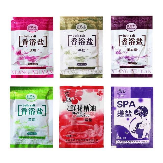 30g Rose Bath Powder Foot Bath Salt Body Foot Skin Care SPA Bath Salt Exfoliation Scruber Dead Skin Remover