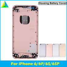 Battery Cover For iPhone 6 6s Plus Rear Door Housing Case Middle Frame Replacement Back Housing For iphone 6 6S Plus with logo(China)