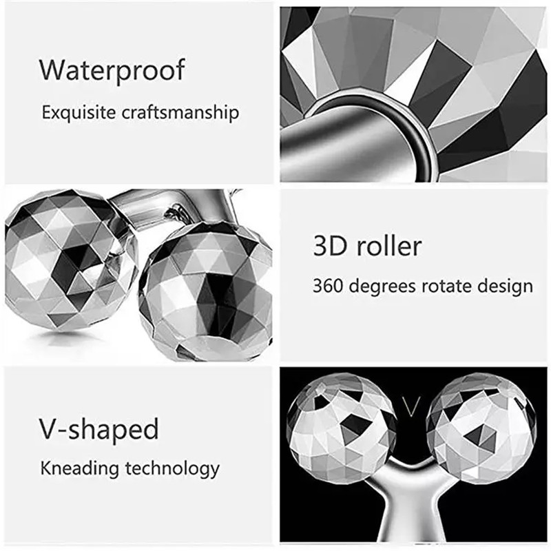 3D Roller Massager 360 Rotate Thin Face Full Body Shape Massager Lifting Wrinkle Remover Facial Massage Tool Y Shape Massager (4)