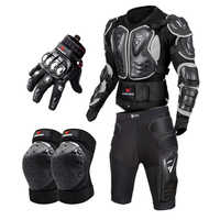 Moto rcycle Volle Körper Rüstung moto s Körper Protector Armadura moto Proteccion moto cicleta moto rcycle Jacke + Shorts + knie Pads + Handschuhe