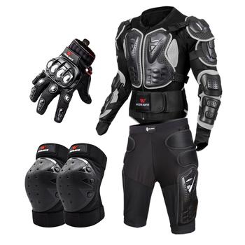 WOSAWE pancerz motocyklowy kurtka całego ciała motocykl kurtka do jazdy sprzęt ochronny motocross ramię ręka wspólne chronić Moto skrzep tanie i dobre opinie BC202+BC312+ML309-HX+BST-017 Jackets+Protection Knee Pads+Gloves Guard Unisex Men Women Teenager Male Female Full Body Armor Protection Guard Protective gear