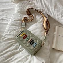 Mini singolo sacchetto di spalla di modo di estate ringer centinaio di piccole fresco letterario lettere estero gas a banda larga borsa cartella obliqua