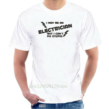 Brand Summer 2019 Cheap Crew Neck MenTop Tee Electrician - Fix Stupid T-Shirt Funny Sparky Tshirt Work Army T Shirt @063394