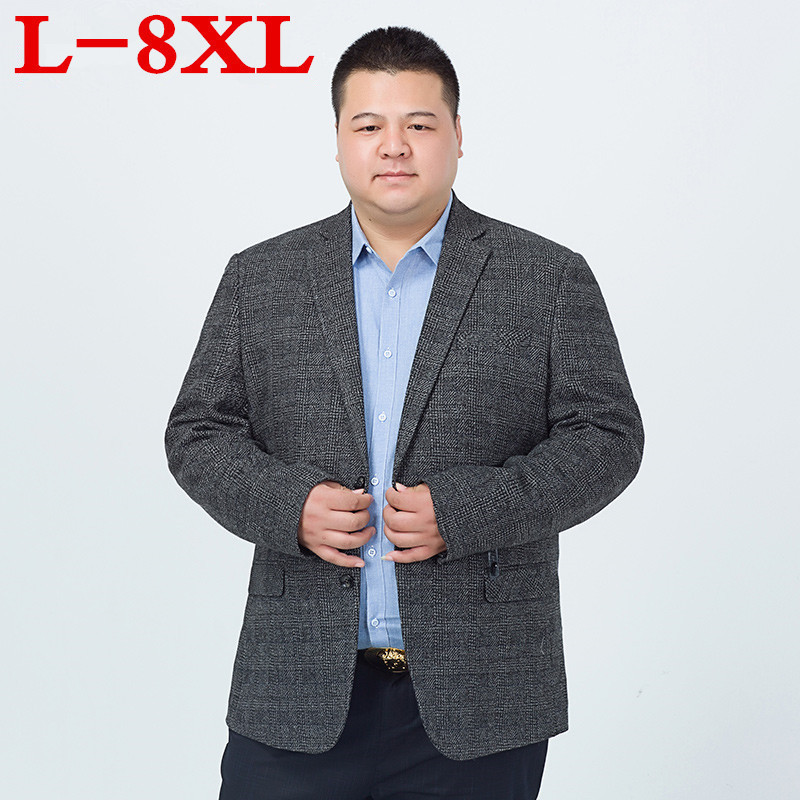 Plus Size  8XL 7XL 6XL 5XL 4XL Men Casual Suit Business Style Fashion Design Men's Long Sleeve Loose Fit Suits Masculine Blazer