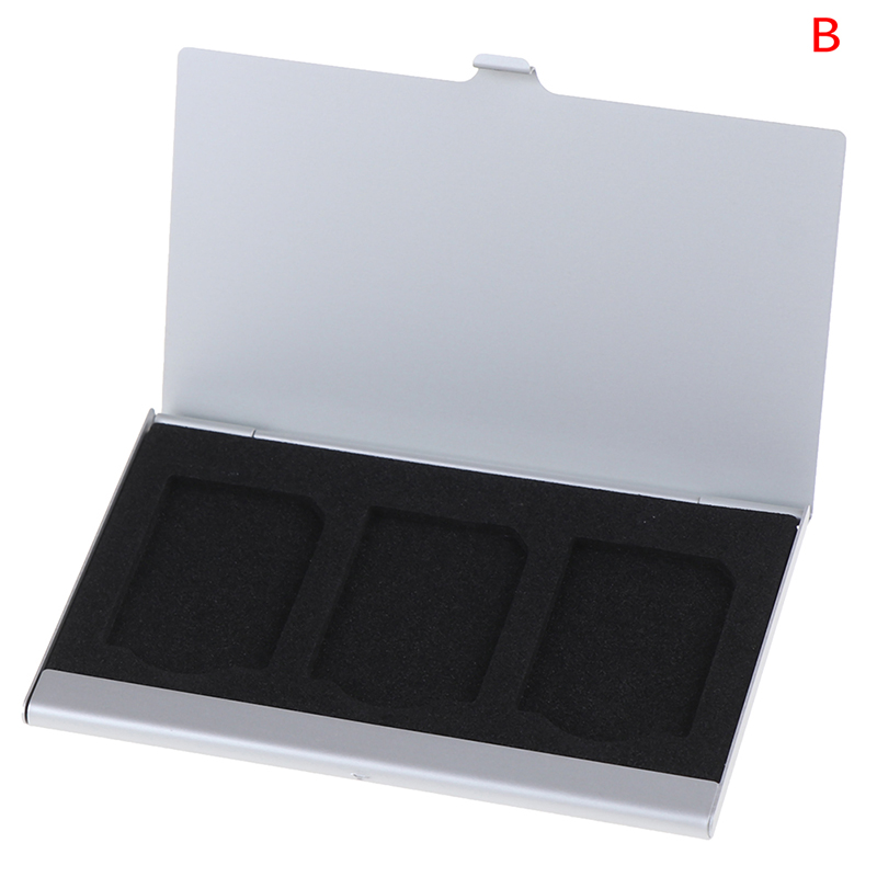 3in1 Aluminum Alloy SIM Card Holder Memory Card Storage Case Holder Protector