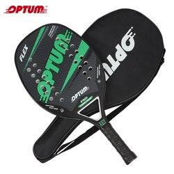 OPTUM FLEX Carbon Faser Strand Tennis Schläger/Strand Tennis Paddle Schläger mit Abdeckung Tasche