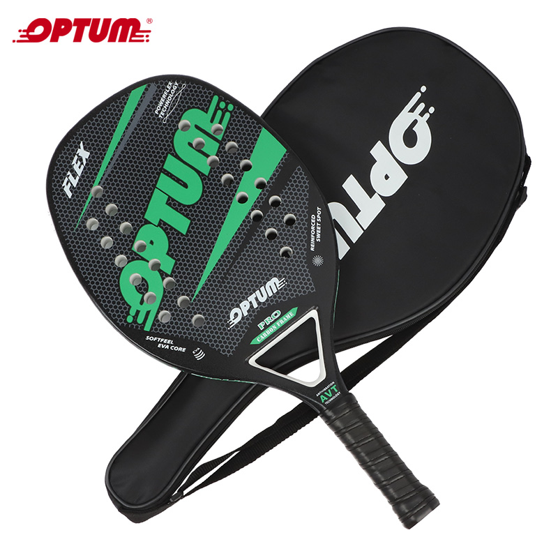OPTUM FLEX Carbon Fiber Beach Tennis Racket/ Beach Tennis Paddle Racquet With Cover Bag