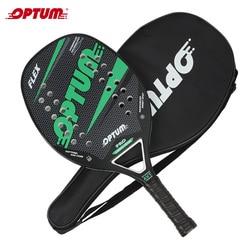 OPTUM FLEX Carbon Fiber Beach Tennis Racket/Strand Tennis Paddle Racket met Deksel Zak