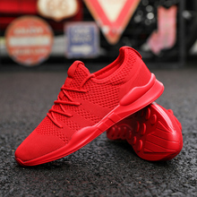 Shoes Men Breathable Sneakers Unisex Size Couple Shoes Adult Red Black White High Quality Comfortable Non slip Soft Mesh Shoes