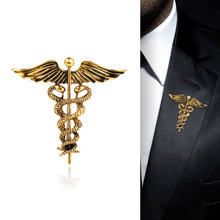 Fashion Retro Angel Wings Mens Badge Brooch Pin Snake Brooches Lapel Medal Women Shirt Collar Clothing & Accessories