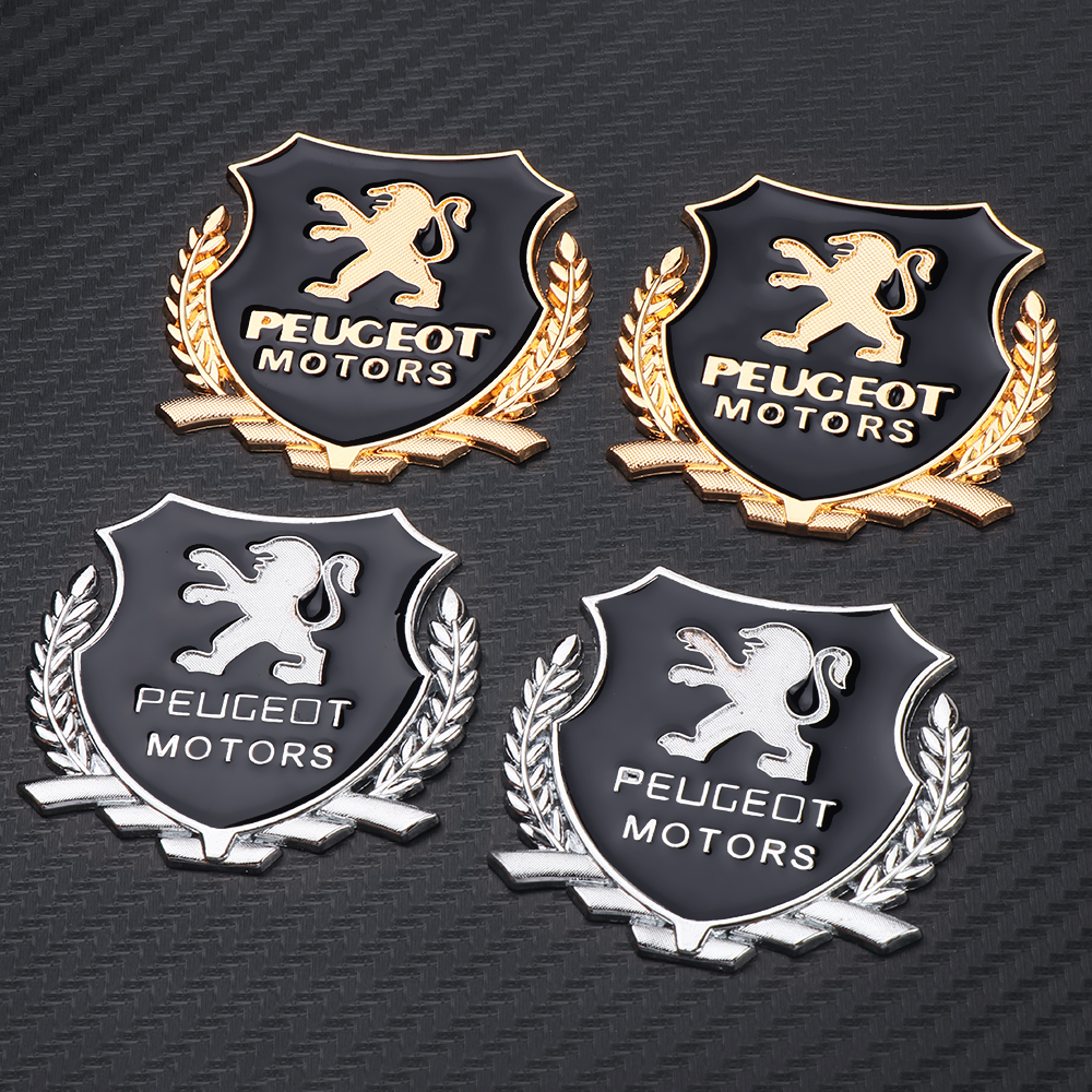 Car Styling 3D Metal VIP Emblem Decal Car Stickers For Peugeot 107 207 307 407 308 607 508 3008 Auto Accessories