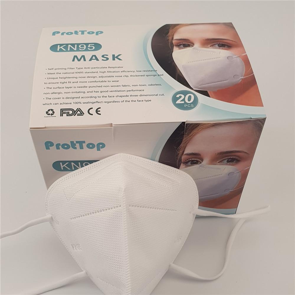DHL 100 Pcs Ffp2 Respirator Mask Kn95 Mascarillas De Proteccion Masque Protective Mascherinemacka Masks Mascaras Faciais Gripe