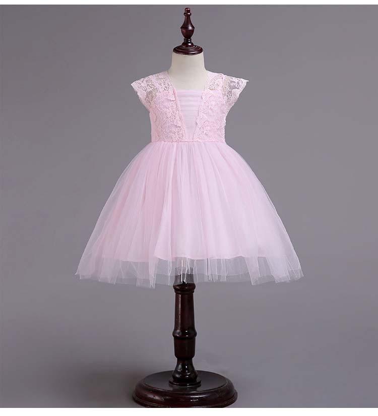 Girls' Lace Dresses Children's Net Tutu Pants Skirts Baby Day Dresses Children's Daily Dresses Catwalk Stage Evening Dresses