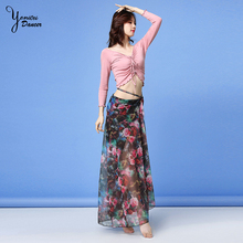 Belly Dance Practice Suit Beginner Drawstring Dance Tops Sexy Fashion Long Belly Dancing Outfit Red Skirt Women Dance Costume