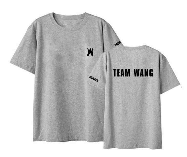 New Korean Kpop Got7 Jackson Team Wang Same Printing O Neck Short Sleeve T Shirt I Got7 Kpop Unisex Loose T-shirt Lovers Top Tee