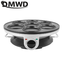 DMWD 7 Hole Electric Frying Pan Omelet Pan For Eggs Ham Pan Cake Maker Frying Pans Non stick Breakfast Grill Pan Cooking Pot EU