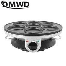 DMWD 7 delikli elektrikli kızartma tavası omlet tava yumurta Ham Pan kek makinesi kızartma tavaları yapışmaz kahvaltı ızgara tavası tencere ab