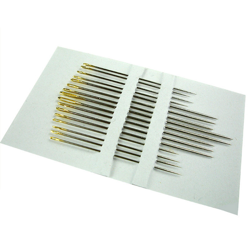 16 Pcs/lot Gold-tail Needlessew Embroidery Tool DIY Needlework Needle Embroidery Toolsewing Tools
