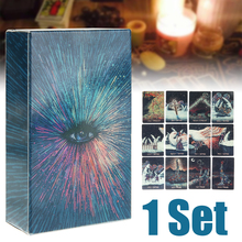 New 2019 English Deck Tarot Cards DIY Silver Plating Prisma Visions Board Game For Party