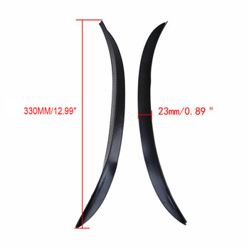 2pcs Soft Car Fender Trim Wheel Eyebrow Arch Decorative Strip Car Tires Flare Extension Wheel Eyebrow Protector Lip Wheel-arch image