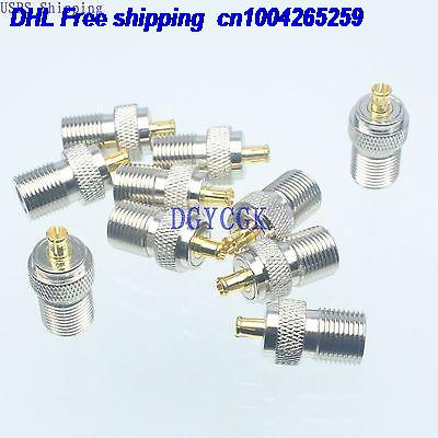 DHL 100pcs Conversion Adapter F female F to MCX male M connector coaxial connector for Antenna connector 22-ct