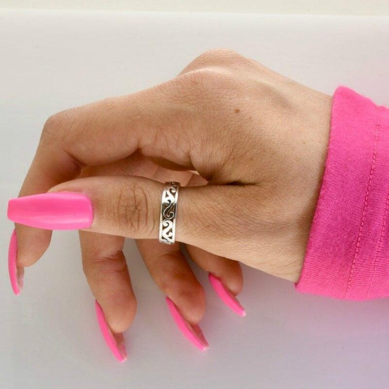 Модные обручальные кольца серебряного цвета с большим пальцем Свадебный комплект колец Размер 6-10