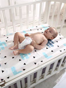 Baby Bed Mattress-Cover Crib-Sheet Fitted Soft 130--70-Cm Portable/mini 100%Cotton