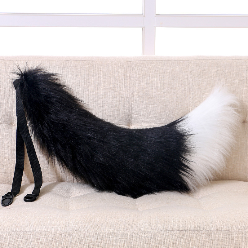 Adjustable Belt Fox Tail Cat Prop Fur Tail Furry Cosplay Prop Carnival Party Christmas Xmas Tassels Anime Accessories Gift Purim