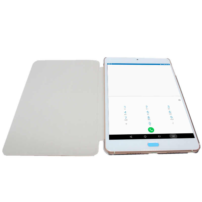 8inch Ultra-dunne Andriod 6.0 Tablet PC Dual Sim-kaart MTK Helio X20 Deca-Core 3 + 16GB 2048x1536 Retina scherm Flip Case