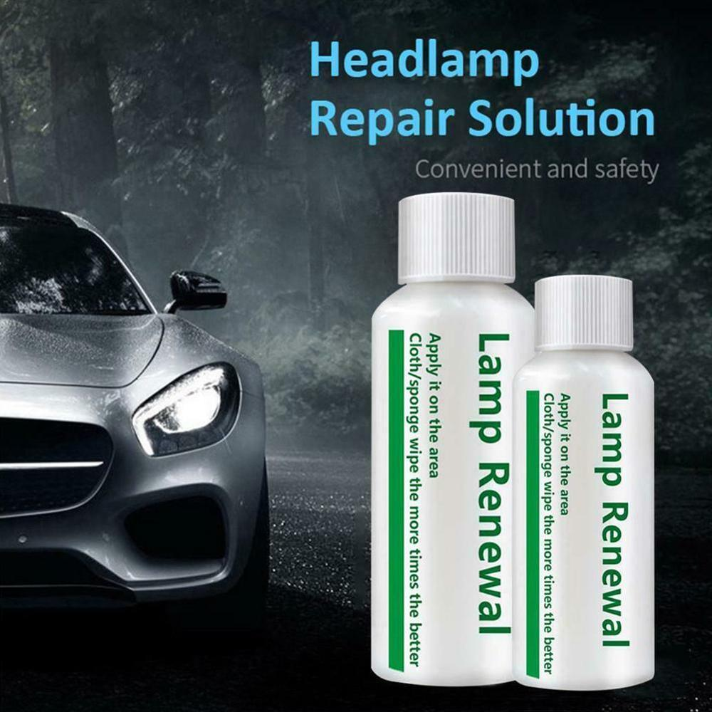 20/50ML Car Headlight Repair Liquid Lamp Retreading Agent Brightening Auto Polish Len Restoration Kit Car Styling