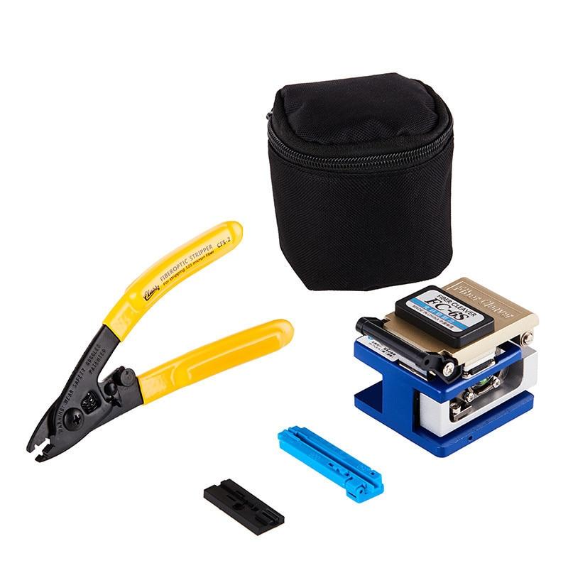 FTTH Fiber Optic Splice Tool Kit Fiber Cutter Optical Fiber Cleaver Cutter Tool Kit FC-6S High Precision +bag +CFS-2